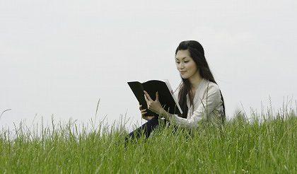 読書を趣味にする女性